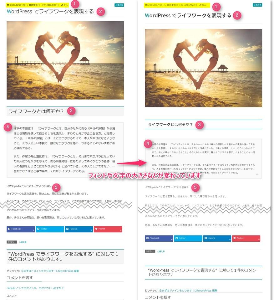WordPress カスタムCSS